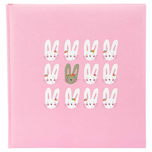 goldbuch Baby-Fotoalbum, Cute Bunnies, 30x31 cm, Leinenstruktur, 60 weiße Seiten 4 Seiten Textvorspann, Pergamin-Trennblätter, Pink, 15 039