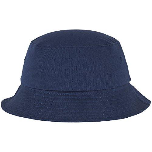 Flexfit Cotton Twill Bucket Hat - Unisex Anglerhut für Damen und Herren, einfarbig, mit patentiertem Flexfit Band, Farbe Blau, one size