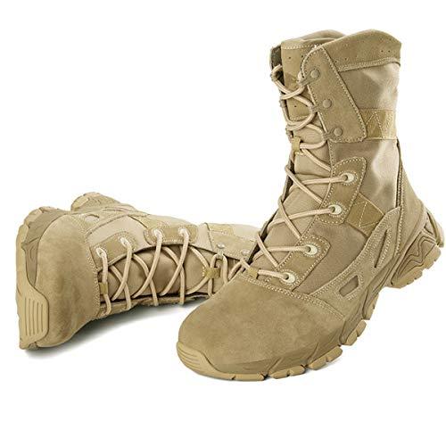 Botas de Senderismo Ligeras Transpirables de otoño para Hombres Zapatos tácticas de Entrenamiento Militar Anti-Piercing