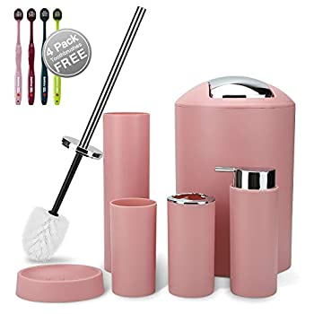 Best pink bathroom accessories set Reviews