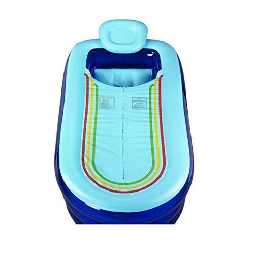 Eeayyygch Rundbadewanne für Erwachsene, Blau/Rosa Kunststoff Badewanne Schwimmbad Badewanne hohe Einweichwanne dick, Nicht verzerrende Wanne große Kunststoffwanne (Farbe: Blau), blau,
