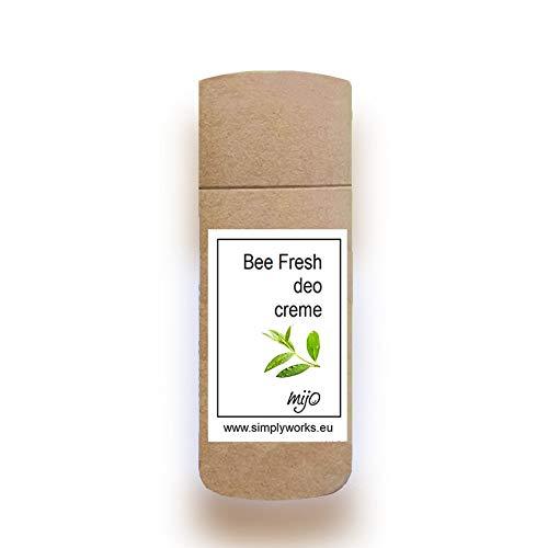 Mijo BEE FRESH Deo Creme Deodorant Stick 80 ml, 110 g Deocreme ohne Aluminium Naturkosmetik Damen, Herren in Papphülse