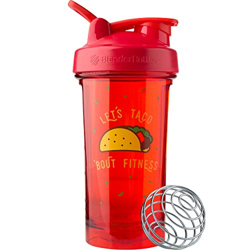 BlenderBottle Foodie Shaker Bottle Pro Series Perfect for Protein Shakes and Pre Workout, 24-Ounce, Let