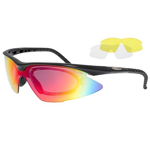 GOGGLE Radbrille mit Wechselvisier - Fahrradbrille mit Optik-Clip E680-2R