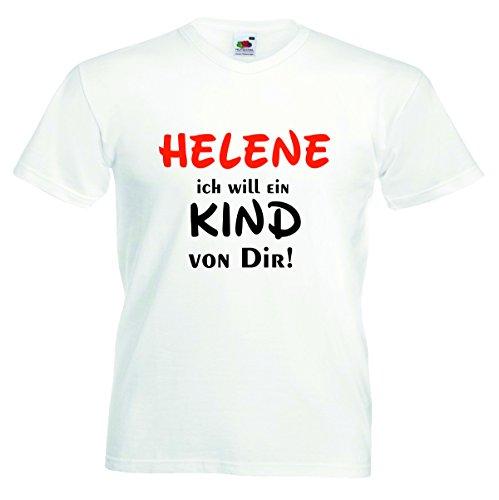 T-Shirt Herren Motiv-014 Größe M Farbe Weiss