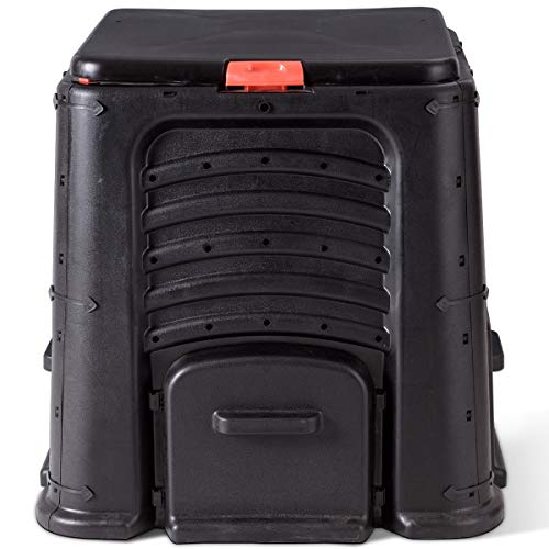 Find Cheap lunanice Compost Bin 105 Gallon Garden Waste Bin Grass Food Trash Barrel Fertilizer