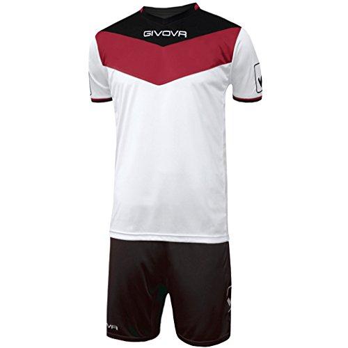 Givova, kit spielfeld, rot/schwarz, M