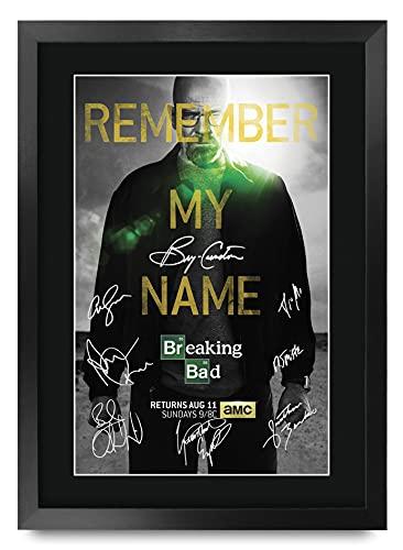HWC Trading Breaking Bad A3 Incorniciato Firmato Regalo Visualizzazione delle Foto Print Immagine Autografo Stampato per TV Show Fan