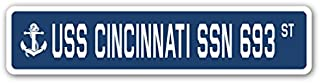 USS Cincinnati SSN 693 Street Sign us Navy Ship Veteran Sailor Gift