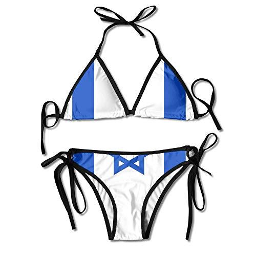 dingjiakemao Israel Flag Bikini Frauen Sommer Bademode Triangel Top Bikinis Badeanzug Sexy 2-Teiliges Set