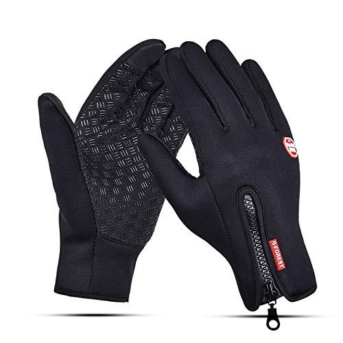 siqiwl Guantes calientes de pesca guantes de dedo completo de neopreno de la PU transpirable de cuero cálido Pesca Fitness Carpa Accesorios de pesca de invierno Guantes de esquí
