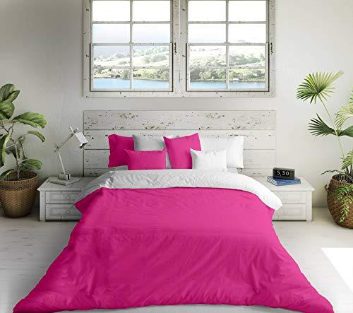 Bettdeckenbezug Naturals Weiß Pink - Bett 180 cm (270 x 270 cm)