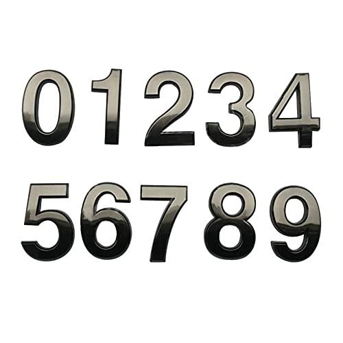 HWNGDI 7 cm galvanoplastia Cepillado número de la casa de los Signos de níquel para los números de la Sala de té del Hotel 0-9 Signos Digitales Fácil de Instalar (Color : 4)