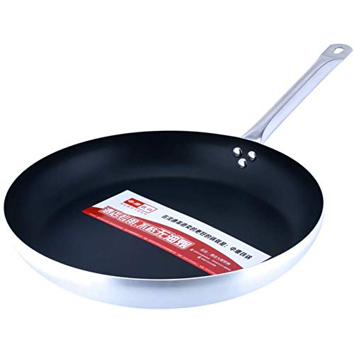 Koekenpannen, niet-plakkerige pan met de vlakke grond, koekenpannen, inductie kookplaat gasfornuis Universal serviesgoed,Black,32cm