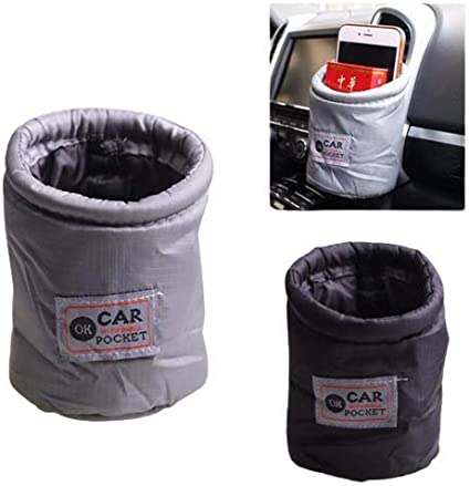Organizador cesta Organizador universal para coche Ducomi cubo de basura portaobjetos para el coche Gadget contenedor plegable Organizador monedero negro