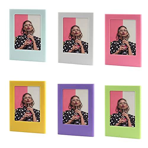 Colorato Magnetica Photo Frame Cartolina Cornici Magnetici Mini Cornici per Foto Album per Foto Frigorifero Adesivi per Frigorifero Cornici Grafiche Colorate Standard Pocket Magnetic Photo 6 Pezzi