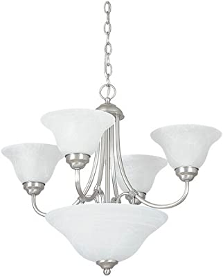 Amazon.com: toltec lighting 275-bn-7145 lazo 5 luz lámpara ...