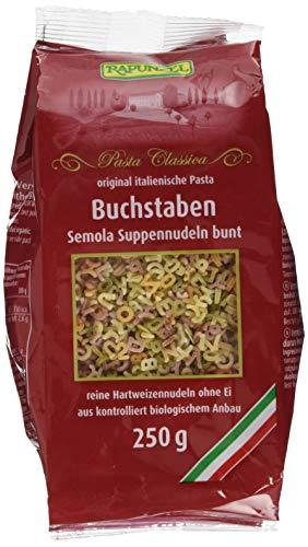 Rapunzel Buchstaben Suppennudeln Semola bunt, 6er Pack (6 x 250 g) - Bio