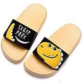 DimaiGlobal Zapatos de Playa y Piscina para Niñas Suave Bañarse Verano Chanclas para Niños Antideslizante Sandalias Zapatillas de Baño Zapatos de Ducha 24/25EU Amarillo/Negro