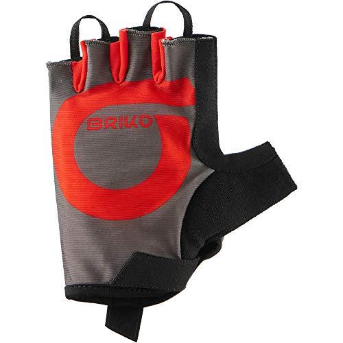 Briko GRANFONDO Glove, Guanti Uomo, 922 Marrone Fango Rosso-Rosso, XL
