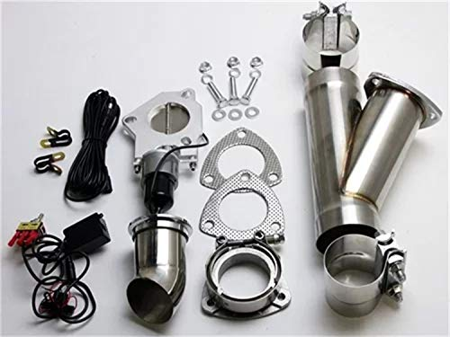Granatelli Motorsports 302530 Electronic Exhaust Cutout Kit 3.0 in. 76 mm. Stainless Steel Slip Fit...