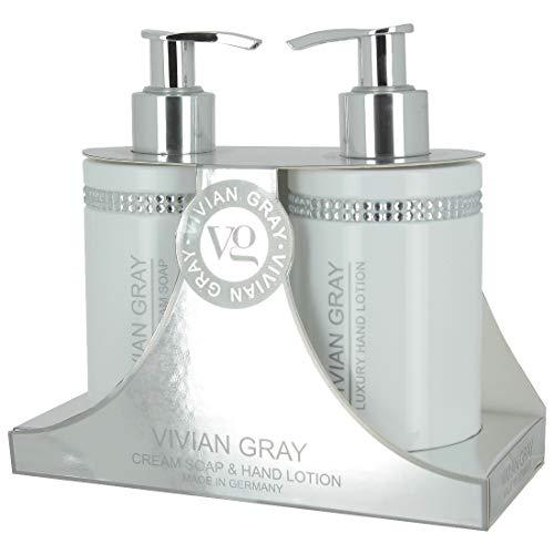 VIVIAN GRAY 3296 Crystals Creme Seife & Hand Lotion je 250 ml, weiß, 2-teilig (1 Set)