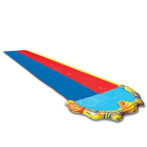 Banzai 226116, Doble tobogán de agua, dos carriles con rociador, para carreras, 487 cm