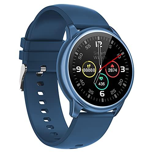 BNMY Reloj Inteligente Mujer Hombre Smartwatch con Pulsómetro Pulsera Actividad Inteligente con Cronómetros Podómetro Caloría,Monitor De Sueño, Impermeable IP68 Mujer Reloj para Android iOS,Azul