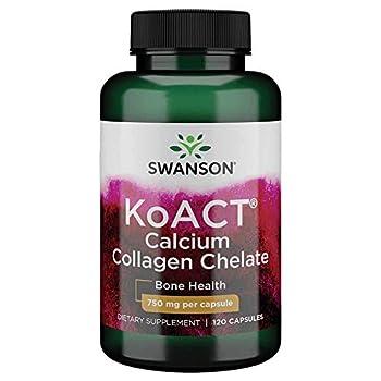 Swanson Koact Calcium Collagen Chelate 120 Capsules