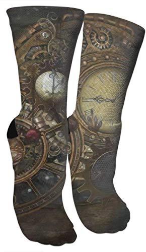~ Steampunk Clocks Compression Socks,Compression Sock Women Men - Best Running, Athletic Sports, Crossfit, Flight Travel