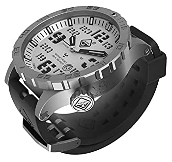 Heavy Water Diver TM  Titanium Tritium Dive-Watch by Hazard 4 R   Bead-Blasted WHT Dial/BLK Graphics - GGYG