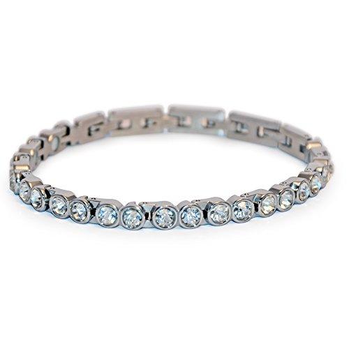 Fashion Boulevard Magnetarmband Energetix 4you 463 Moonlight klare Swarovski Crystals White Diamond 1A Qualität Magnetix S/M