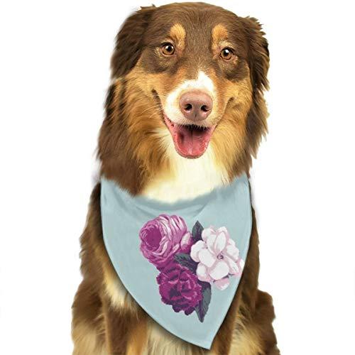 Sitear Vintage Bloemen Rozen Behang Hond Kat Bandana Driehoek Bibs Sjaal Huisdier Geschikt voor Kleine Tot Grote Hond Katten