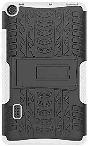 ZRH Accesorios De Pestañas para Huawei MediApad T3 7 WiFi BG2-W09 7.0 Ph Funda De 7.0 Pulgadas TPU + PC Armadura De Plástico Híbrido Abrigo Duro Tapa Trasera (Color : White)
