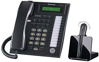 $299 » Panasonic KX-T7731 12 Convenient Line Keys Backlit LCD Display Speakerphone Wall Mountable 24 Button Advanced Hybrid Telephone with CS540 Headset
