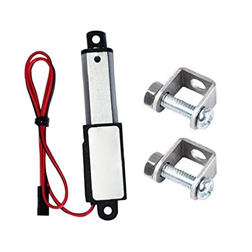 Micro actuador lineal eléctrico Mini impermeable con soportes de montaje 12V 30mm...