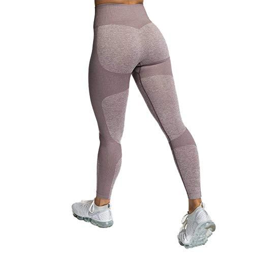 SotRong Pantaloni da Yoga per Maglieria Leggings Sportivi da Donna Vita Alta Allenamento Palestra Collant da Corsa Pantaloni per il Controllo Della Pancia Pantaloni Elasticizzati per Caffè M