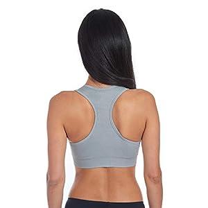 Layer 8 Women's Performance 2-Pack Seamless Lightweight Sports Bra - Medium