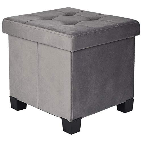pouf contenitore velluto grigio BRIAN & DANY Pouf Contenitore Velluto