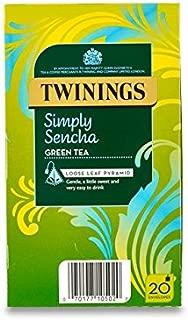 Twinings Tea Simply Sencha Green Tea Whole Leaf Pyramid Bag (20 Envelopes)