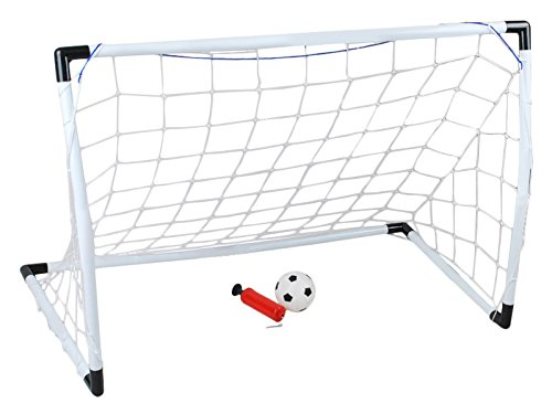 ISO TRADE 2 x Mini Fußballtor inkl. Ball und Pumpe Fußball Tornetzt Tor Fußball 1493