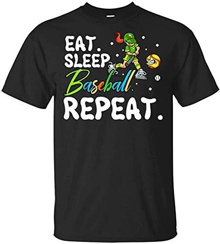 Generic T-Shirt Eat Sleep Baseball Lover Repeat Funny Gift Men's T-Shirt