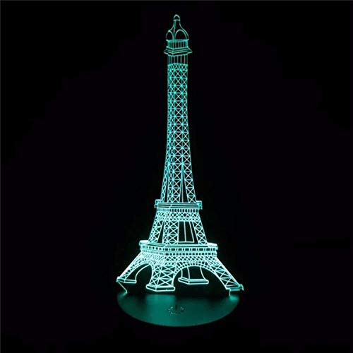omantische Frankrijk Eiffeltoren 3D LED nachtlampje RGB veranderbaar stemming lamp USB decoratieve tafellamp kinderen vrienden cadeau