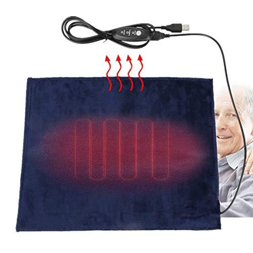Duokon 5V2A Elemento riscaldante riscaldatore in Tessuto Elettrico USB per Vestiti Sedile Scaldino per Animali 24x30cm Cuscinetto Lavabile 45 ℃