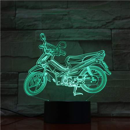 Lichten van de motorfiets liefhebbers 3D LED nachtverlichting USB nachtlicht licht effect feestdag kerstgeschenken