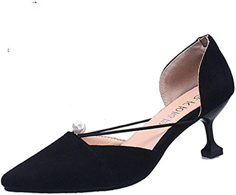 HRCxue HRCxue HRCxue Wilde einzelne Schuhe Frauen fein mit stilvollen high-heel Schuhe flache Mund matt Tipp Arbeit Schuhe Frauen Schuhe  91e429