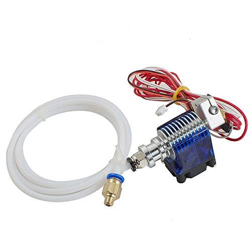 Finlon E3D Extruder für RepRap 3D-Drucker, Hotend, Metall, J-Head, V6,1,75-mm-Filament, Direct Feed, 0,4-mm-Düse mit 12-V-Lüfter und 1-m-PTFE-Röhrchen