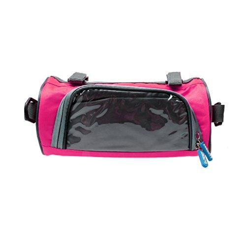 SM SunniMix Bolso del Manillar de La Bolsa del Teléfono Móvil de Ciclo con La Pantalla Táctil de Forma Redonda - Rosado, Redondo