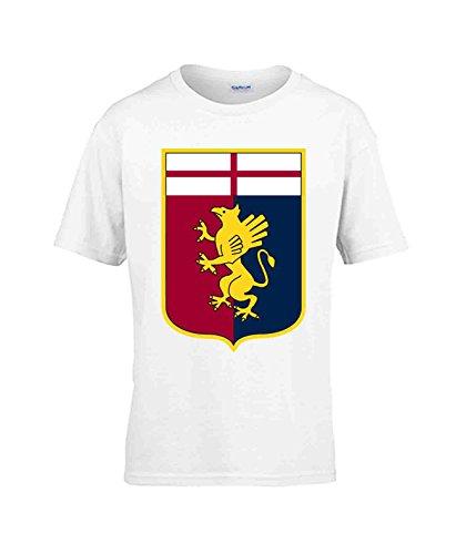 Capricci Italiani T-Shirt Bambino Genoa Manica Corta (9/11 Anni (140 cm))