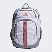 adidas Unisex Prime Backpack, Jersey White/ Real Pink/ Grey, ONE SIZE